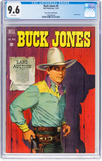 Buck Jones #5 Mile High Pedigree (Dell, 1952) CGC NM+ 9.6 White pages