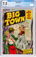 Golden Age (1938-1955):Adventure, Big Town #28 (DC, 1954) CGC VF- 7.5 Off-white to white pages....