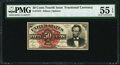 Fractional Currency:Fourth Issue, Fr. 1374 50¢ Fourth Issue Lincoln PMG About Uncirculated 55 EPQ.. ...