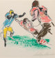 LeRoy Neiman (American, 1921-2012) Scampering Back, 1972 Etching with hand-coloring on paper 8-1/4 x 8 inches (21.0 x...