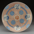 Asian:Japanese, A Japanese Imari Porcelain Center Bowl with Charger. Marks to center bowl: (Qianlong Ken mark). 3-1/4 x 18 inches (8.3 x 45.... (Total: 2 Items)