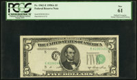 Fr. 1962-E $5 1950A Federal Reserve Note. PCGS New 61