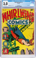 Golden Age (1938-1955):Superhero, Whirlwind Comics #3 (Nita Publication, 1940) CGC GD/VG 3.0 Off-white pages....