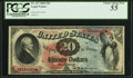 Large Size:Legal Tender Notes, Fr. 127 $20 1869 Legal Tender PCGS Choice About New 55.. ...