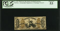 Fractional Currency:Third Issue, Fr. 1357 50¢ Third Issue Justice PCGS About New 53.. ...