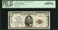 National Bank Notes:Pennsylvania, Crafton, PA - $5 1929 Ty. 2 The First NB Ch. # 6010 PCGS Gem New 66PPQ.. ...