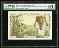 World Currency, Cameroon Banque Centrale 1000 Francs ND (1962) Pick 12b PMG Choice Uncirculated 64 EPQ.. ...