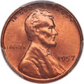 Lincoln Cents, 1957 1C MS67 Red PCGS....
