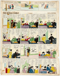 Harry J. Tuthill The Bungle Family Sunday Comic Strip Original Art dated 10-27-29 (Tuthill/McNaught Syndicate, 192