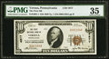 National Bank Notes:Pennsylvania, Verona, PA - $10 1929 Ty. 1 The First NB Ch. # 4877 PMG Choice Very Fine 35.. ...