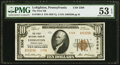 National Bank Notes:Pennsylvania, Lehighton, PA - $10 1929 Ty. 2 The First NB Ch. # 2308 PMG About Uncirculated 53 EPQ.. ...