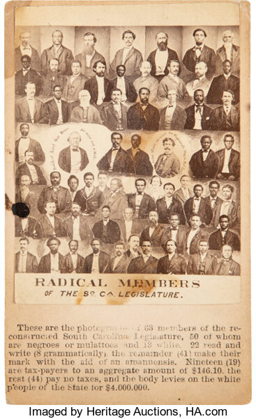 PhotographyCDVs Radical Members Of The South Carolina Legislature Carte DeVisite