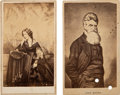 Photography:CDVs, [Abolition]. Cartes de Visite (2) of John Brown and Harriet Beecher Stowe.... (Total: 2 Items)