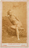 Photography:CDVs, Nude African Woman in Chains Carte de Visite....
