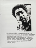 Miscellaneous:Broadside, Bobby Seale Student Protest Poster....