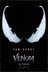 """Venom (Columbia, 2018). Rolled, Very Fine-. One Sheet (27"""" X 40"""") DS Advance. Horror"""