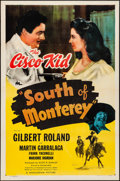 """Movie Posters:Western, South of Monterey (Monogram, 1946). Folded, Very Fine-. One Sheet (27"""" X 41""""). Western.. ..."""