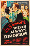 """Movie Posters:Romance, There's Always Tomorrow (Universal, 1934). Folded, Very Good+. One Sheet (Approx. 26.75"""" X 40.25""""). Romance.. ..."""