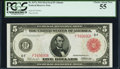 Fr. 837a $5 1914 Red Seal Federal Reserve Note PCGS Choice About New 55