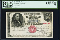 Fr. 214 $10 1879 Refunding Certificate PCGS About New 53PPQ