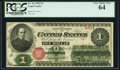 Large Size:Legal Tender Notes, Fr. 16c $1 1862 Legal Tender PCGS Very Choice New 64.. ...