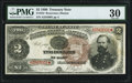 Large Size:Treasury Notes, Fr. 353 $2 1890 Treasury Note PMG Very Fine 30.. ...
