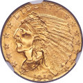 Indian Quarter Eagles, 1910 $2 1/2 MS66 NGC....
