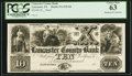 Obsoletes By State:Pennsylvania, Lancaster, PA- Lancaster County Bank $10 18__ G8 Proof PCGS Choice New 63.. ...