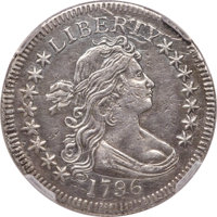 1796 25C B-2, R.3 -- Mount Removed, Whizzed -- NCS. XF Details....(PCGS# 38920)