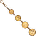 Timepieces:Watch Chains & Fobs, Gold Coin Fob. ...