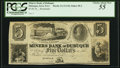 Obsoletes By State:Iowa, Dubuque, IA (Terr.)- Miners Bank of Dubuque $5 18__ Remainder Oakes58-2 / 61-2 PCGS Choice About New 55.. ...