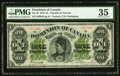 Canadian Currency, DC-8f $1 1878 PMG Choice Very Fine 35.. ...