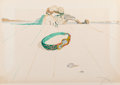 Prints & Multiples, Salvador Dalí (1904-1989). Desert Bracelet, from Time, 1976. Photolithograph in colors on Arches paper. 21-1/4 x 29-...