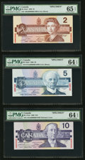 Canadian Currency, 1986-91 Birds of Canada Specimen Set PMG Graded.. ... (Total: 7 notes)