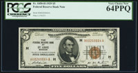 Fr. 1850-H $5 1929 Federal Reserve Bank Note. PCGS Very Choice New 64PPQ