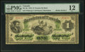 "Canadian Currency, DC-2b $1 1870 with ""Radar"" Serial Number 23432 PMG Fine 12.. ..."