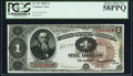 Fr. 347 $1 1890 Treasury Note PCGS Choice About New 58PPQ