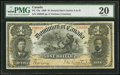 Canadian Currency, DC-13a $1 1898 PMG Very Fine 20.. ...