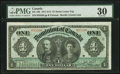 Canadian Currency, DC-18b $1 1911 PMG Very Fine 30.. ...