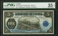Canadian Currency, DC-21g $5 1912 PMG Choice Very Fine 35 EPQ.. ...