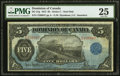 Canadian Currency, DC-21g $5 1912 PMG Very Fine 25. Another color...