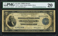 Error Notes:Double Denominations, Fr. 747 $2/$1 Double Denomination 1918 Federal Reserve Bank Note PMG Very Fine 20.. ...