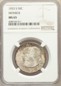 1923-S 50C Monroe MS65 NGC. NGC Census: (349/72). PCGS Population: (517/120). CDN: $550 Whsle. Bid for problem-free NGC/...