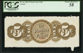 Canadian Currency, PC-4ct $5 1866 Back Color Trial PCGS Choice About New 58.. ...