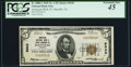National Bank Notes:Virginia, Danville, VA - $5 1929 Ty. 1 American NB & TC Ch. # 9343 PCGSExtremely Fine 45.. ...