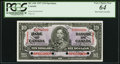 Canadian Currency, BC-24S $10 1937 Specimen PCGS Very Choice New 64, 4 POCs.. ...