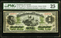 Canadian Currency, DC-2b-i $1 1870 PMG Very Fine 25.. ...