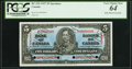 Canadian Currency, BC-23S $5 1937 Specimen PCGS Very Choice New 64, 4 POCs.. ...