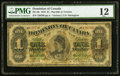 Canadian Currency, DC-8b $1 1878 PMG Fine 12.. ...