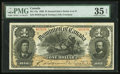 Canadian Currency, DC-13a $1 1898 PMG Choice Very Fine 35 EPQ.. ...